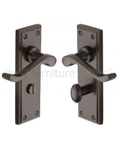 Edwardian Matt Bronze Bathroom Door Handles
