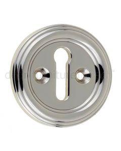 Polished Nickel Keyhole Escutcheon 42mm