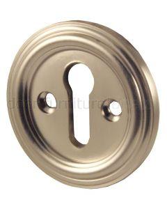 Satin Nickel Keyhole Escutcheon 42mm