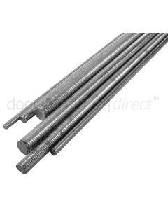 BZP Steel Threaded Bar 330mm Lengths Metric Thread