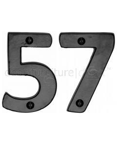 Black Iron Rustic Door Numbers 0-9 76mm (3in)