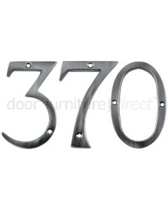 Pewter Finish Face Fixing Numerals 76mm