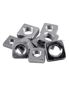 Square Roofing Nuts Zinc Plated In Packs Of Ten