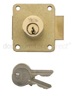 Yale Brass Straight Cupboard Lock