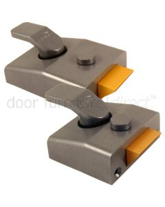 Asec Non Deadlocking Nightlatch Standard or Narrow Grey