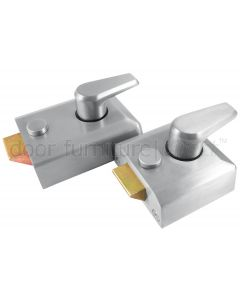 Satin Chrome Front Door Nightlatch Standard and Narrow Style