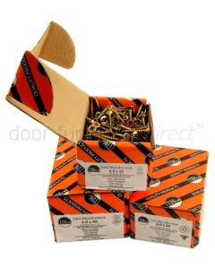 Boxed Yellow Passivated Countersunk Woodscrews