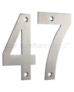 Satin Stainless Steel 75mm Numerals 0-9
