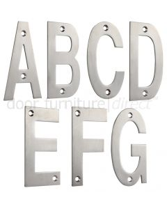 Satin Stainless Steel 75mm Letters A to G