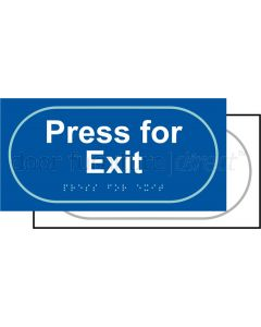 Taktyle Sign Press For Exit