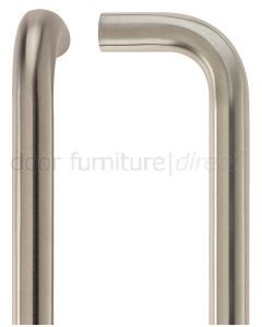 Satin Stainless Steel D Pull Handle 19mm