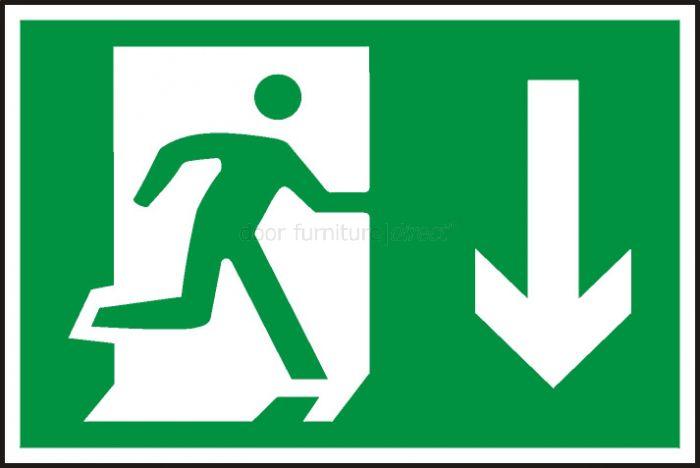 Sign Running Man Arrow Down Symbol