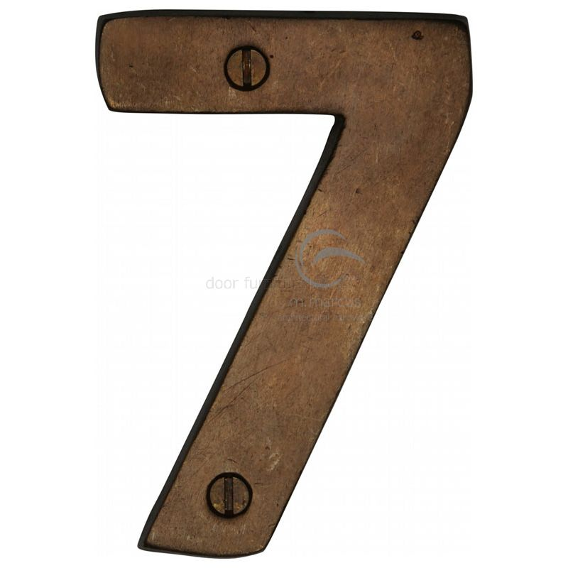 Merveilleux Solid Bronze Rustic Door Number 7 76mm