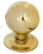 Brass Ball Centre Door Knob 3in