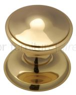 Polished Brass Stepped Edge Front Door Knob 3in