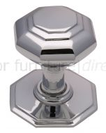 Polished Chrome Octagonal Front Door Knob 3in (76mm)