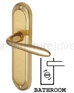 Henley Shaped Lever Dual Finish Brass Bathroom Lock Door Handles