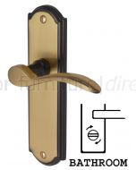Howard Curved Lever Brass and Bronze Bathroom Lock Door Handles