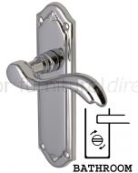 Lisboa Scroll Lever Polished Chrome Bathroom Door Handles