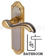 Lisboa Scroll Lever Dual Finish Bathroom Door Handles