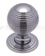 Polished Chrome 32mm Reeded Ball Cupboard Knob