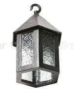 Black Antique Iron Hexagonal Hanging Lamp 401L