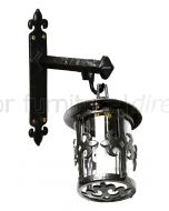 Black Antique Iron Ornate Hanging Lamp and Wall Bracket 405