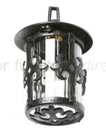 Black Antique Iron Ornate Hanging Lamp and Corner Bracket 405