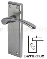 Hilton Curved Lever Dual Finish Chrome Bathroom Lock Door Handles