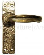 Antique Style Brass Latch Door Handles 152x38mm 2439