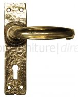 Antique Style Brass Lock Door Handles 152x38mm 2439