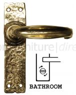 Antique Style Brass Bathroom Door Handles 152x38mm 2439