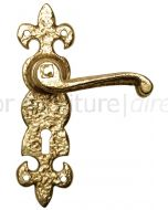 Antique Style Brass Lock Door Handles 190x55mm 2450