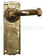 Antique Style Brass Latch Door Handles 152x47mm 2451