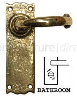 Antique Style Brass Bathroom Door Handles 152x47mm 2451