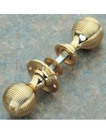 Unlacquered Brass 48mm Reeded Rim Door Knobs