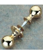 Unlacquered Brass 48mm Ball Rim Door Knobs