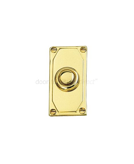 Art Deco Bell Push 50x38mm