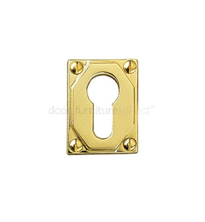 Art Deco EURO Escutcheon 50x38mm