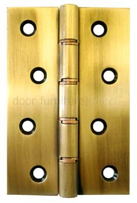 Aged Antiqued Brass Door Butt Hinges 102x67mm (4x2 5/8in) in Prs