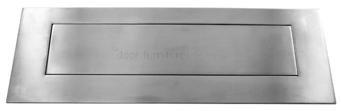 Satin Stainless Steel Letter Plate 330mm