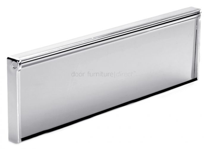 Draught Proof Letterplate or Tidy 292mm Polished Chrome