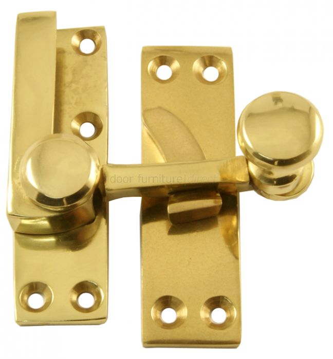 Polished Brass Sash Window Fastener 70x19mm
