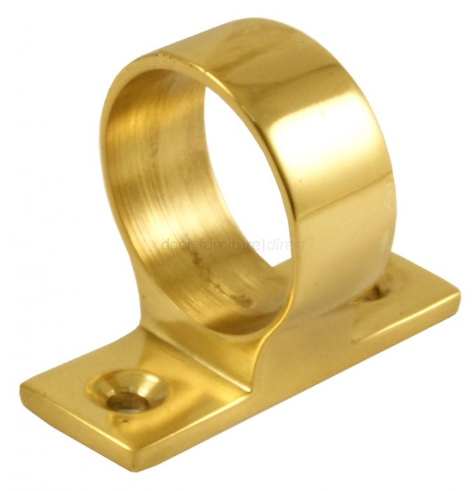 Polished Brass Window Sash Eye 25mm