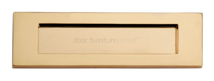 Polished Brass Victorian Plain Letter Box 10x3in (254x76mm)