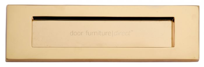 Polished Brass Victorian Plain Letter Box 12x4in (305x100mm)