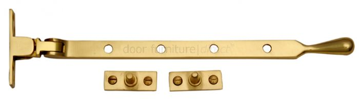 Polished Brass Ball Window Casement Stay 10in (254mm)