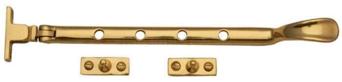 Polished Brass Window Casement Stay 10in (254mm)