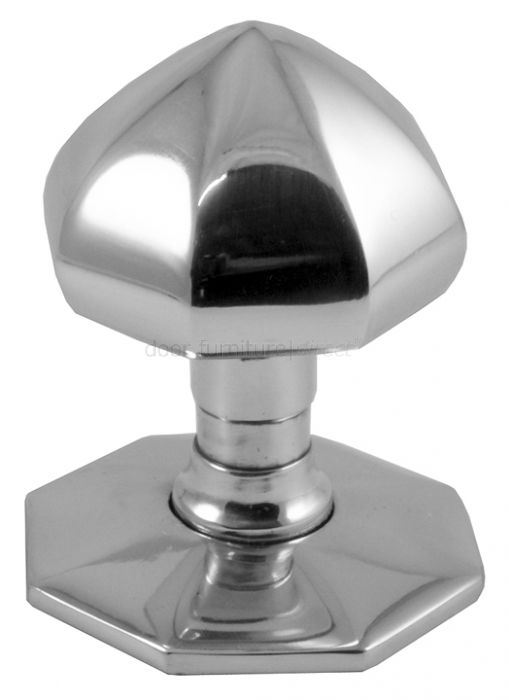 Polished Chrome Faceted Front Door Knob 2.5in (64mm)