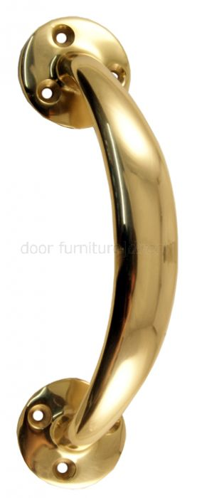 Polished Brass Offset Door Pull Handle 152mm (6in)